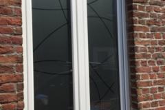 Film sablé sur fenêtre