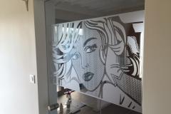 Film sablé translucide Roy Lichtenstein