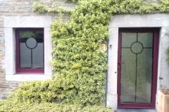 Film sablé - Motif personnalisé porte et fenêtre
