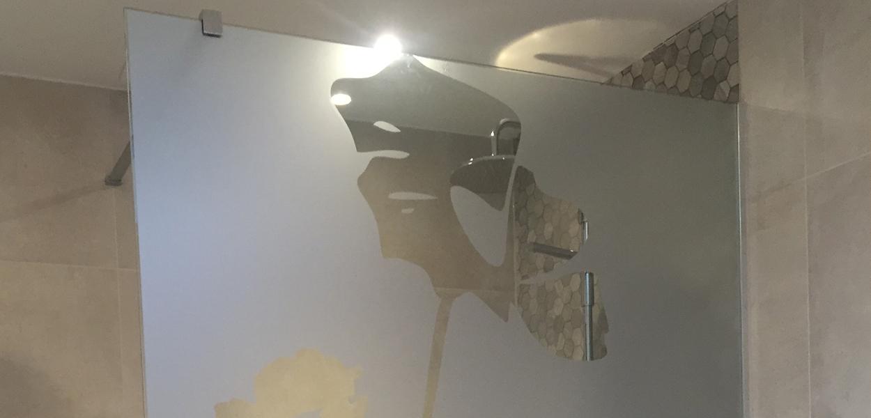 Film sablé pour douche