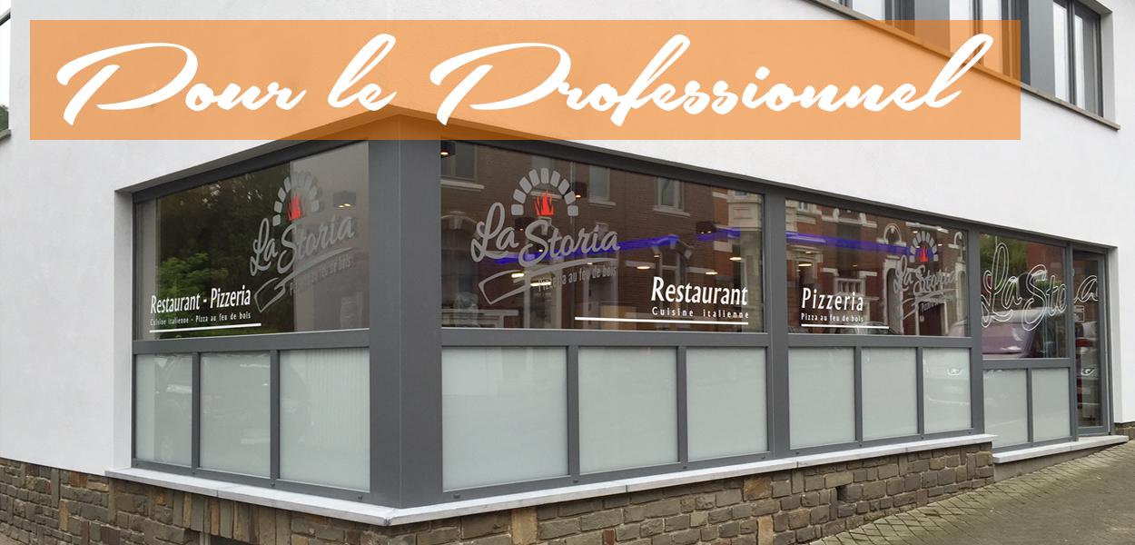 Film sablé vitrine restaurant