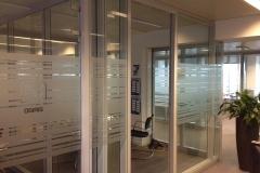 Cloisons de bureaux sablées