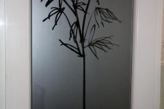 Film sablé avec découpe de motif bambous 2