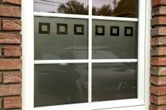 Sablage pour vitres avec découpe de carrés